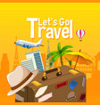 lets go travel object vector image