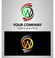 Letter W logo Icons Set Graphic Design vector image