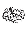merry christmas hand drawn lettering isolated on vector image vector image