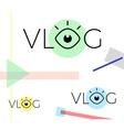 modern vlog or video blog vector image vector image