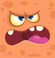 monster face cartoon creature avatar vector image