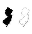 new jersey nj state map usa with capital city vector image vector image