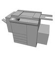 print machine vector image vector image