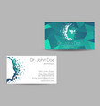 psychology visit card modern sign vector image vector image