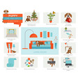puppy care and safety in your home living room vector image vector image