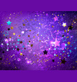 purple background with stars vector image vector image