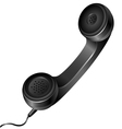 Realistic telephone handset vector image vector image