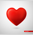 red heart love symbol isolated on gray background vector image