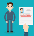 Rejected paper vector image vector image