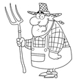 Royalty Free RF Clipart Happy Farmer Man Carrying vector image vector image