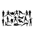 running silhouettes vector image vector image