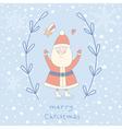 Santa Claus wreath vector image vector image