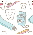 Seamless of teeth care vector image vector image