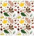 seamless pattern with autumn leaves and vector image vector image