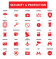 security protection icons set vector image