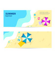 set horizontal banner sunny summer day summertime vector image