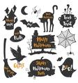 set of black labels badges and lettering vector image
