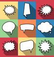 set of nine cartoon comic balloon speech bubbles vector image vector image