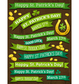 Set of ribbon for St Patricks Day vector image