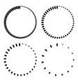 set stripes around circle logo countdown vector image