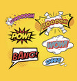speech bubbles comics speech and exclamations vector image vector image