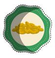 Sticker gold metal coins