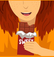 sweet dependence bad habit and addiction of vector image
