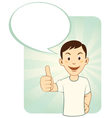 Thumbs Up Man vector image vector image