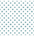 tile pattern with hand drawn mint green polka dots vector image