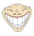 toothy smile vector image vector image