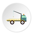 Tow truck icon flat style vector image