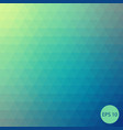 triangle background green and blue back vector image