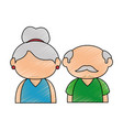 upperbody cute old couple vector image