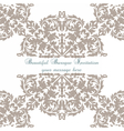 Vintage Baroque ornament card vector image vector image