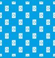 washing machine pattern seamless blue vector image vector image