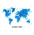 watercolor painting style world map vector image vector image