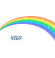 wavy curve rainbow with stars background vector image