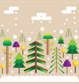 winter forest christmas mood trees in snow vector image vector image