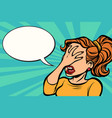 woman facepalm gesture vector image vector image