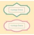 Two Vintage Frames vector image