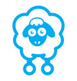 cloud sheep icon vector image