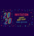 2020 happy new year greeting card happy new year vector image