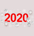 2020 new year text number calendar abstract vector image vector image