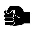 a hand clenched into a fist icon vector image vector image
