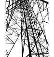 Abstract Electrical tower vector image