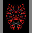 abstract skull shape red pattern vector image vector image
