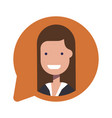 avatar businesswoman or manager social icon in vector image vector image