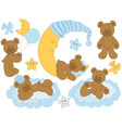 Baby Bears Set vector image