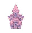 beautiful fairytale castle icon vector image