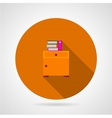 Bedside table flat icon vector image vector image